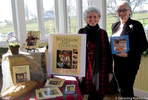 Barbara Napier, left, Snug Hollow Farm, and Rona Roberts, right
