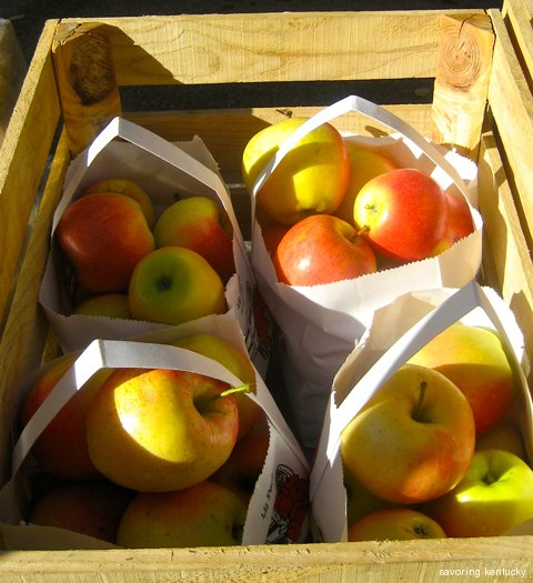 Reed Valley Orchard apples in crate