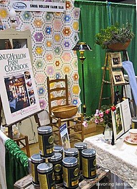 Snug Hollow Farm B&B booth at Incredible Food Show