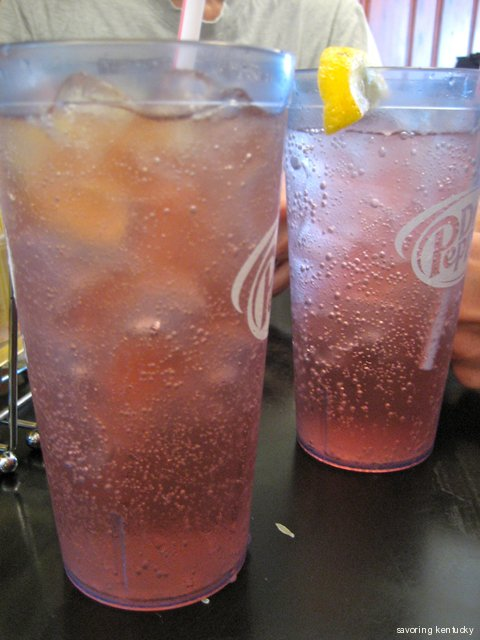 Homemade Strawberry Sodas at Stella's Kentucky Deli
