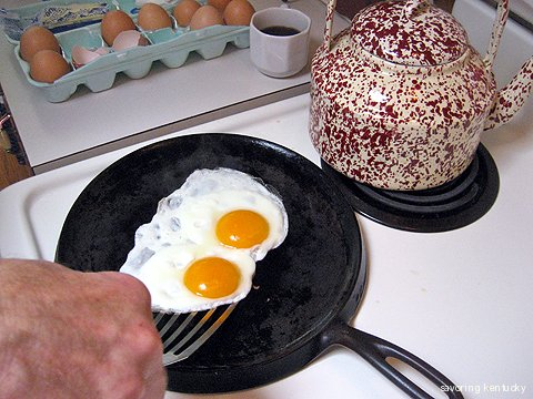 Brother cooks his brother-in-law's excellent eggs