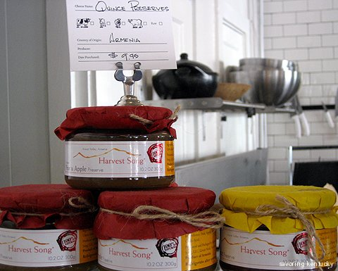 Preserves from around the world at W+M Market, Lexington, Kentucky