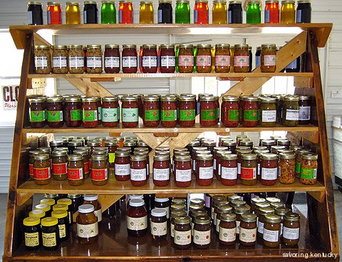 Jams, jellies, sorghum at Zimmerman's, Kentucky