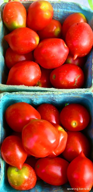 San Genovese tomatoes from Cleary Hill Farm, Anderson County, Kentucky