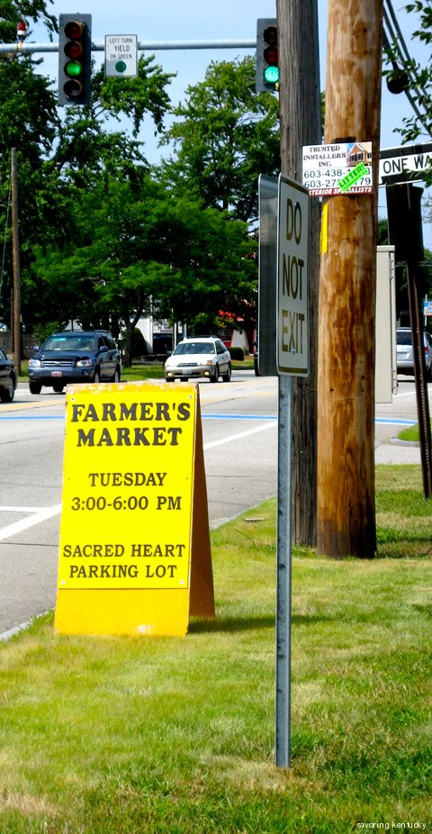 Sign for Seacoast Growers Market, Hampton, NH