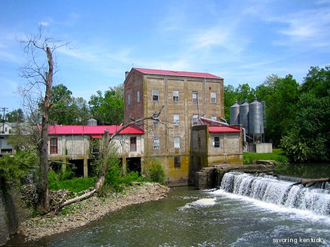 Weisenberger Mill with its creek, which is its power source
