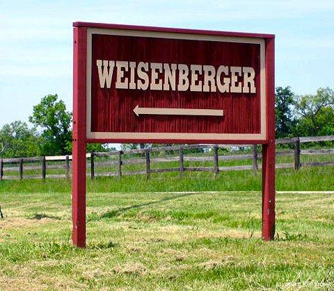 Weisenberger Mill Sign