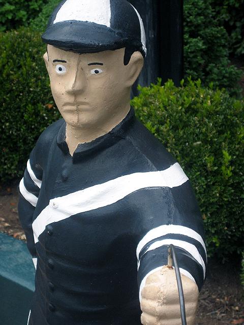 Jockey statue outside Gratz Park Inn, Lexington, Kentucky