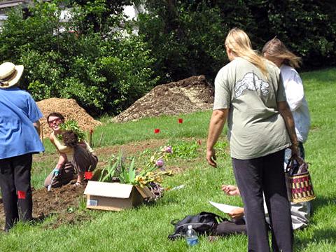 Volunteers work in the London Ferrell Community Garden, Lexington, Kentucky