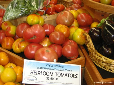 Kentucky organic produce at Good Foods Market, Lexington, KY