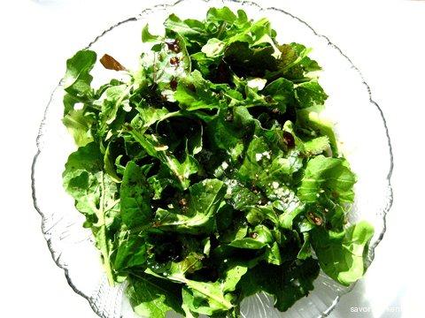 Exquisite late fall 2009 arugula salad, with vinaigrette