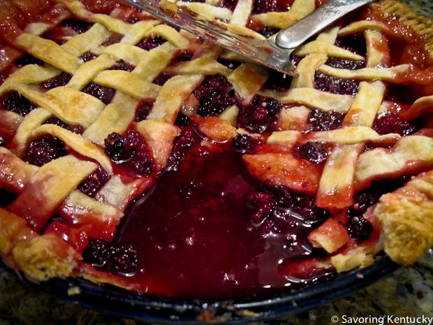 First blackberry pie of the 2012 season
