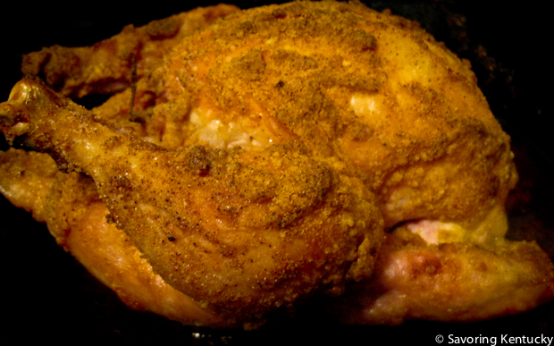 """Mother's """"Basted"""" (Roast) Chicken, a Savoring Kentucky preparation"""