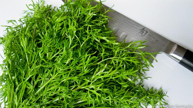 Delfino, a finely cut cilantro
