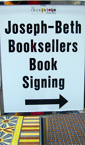 Joseph-Beth presented a big cooking-friendly bookstore, supporting Kentucky authors by hosting hourly book signings.