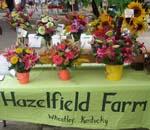 Hazelfield table with flowers