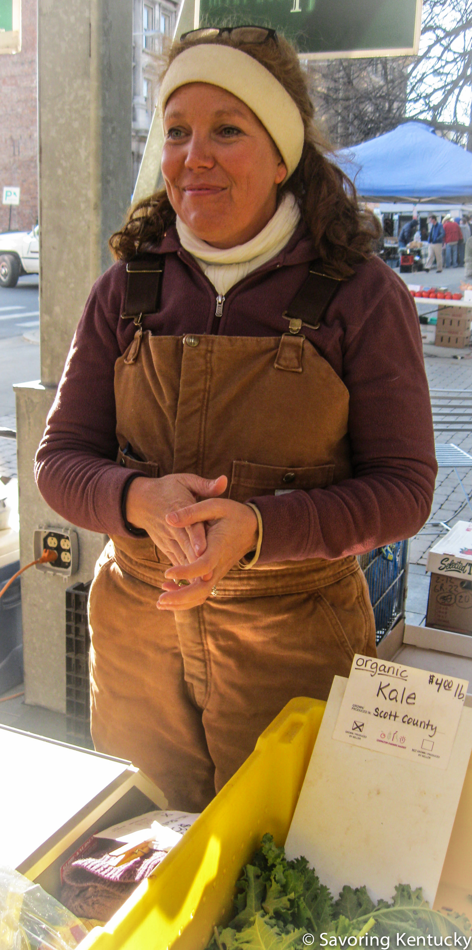 Ann Bell Stone of Elmwood Stock Farm, Market leader in certified organic vegetable, meat, poultry, and egg production.
