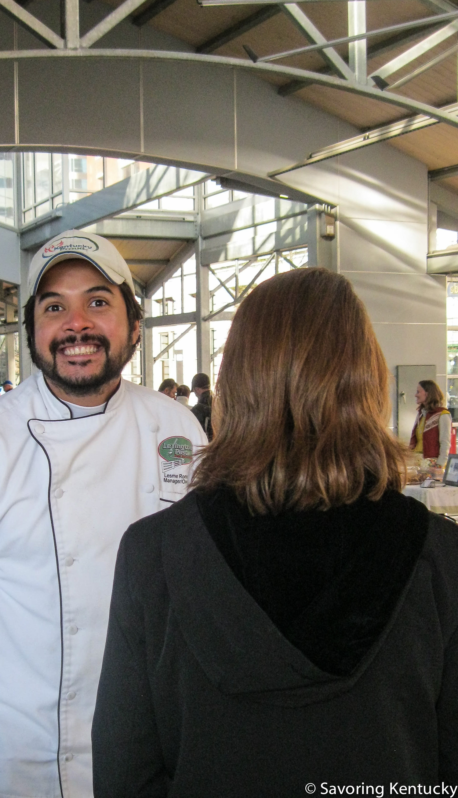 Lesme Romero  of  Lexington Pasta , full of local goodness and a favorite stop for tonight's dinner!