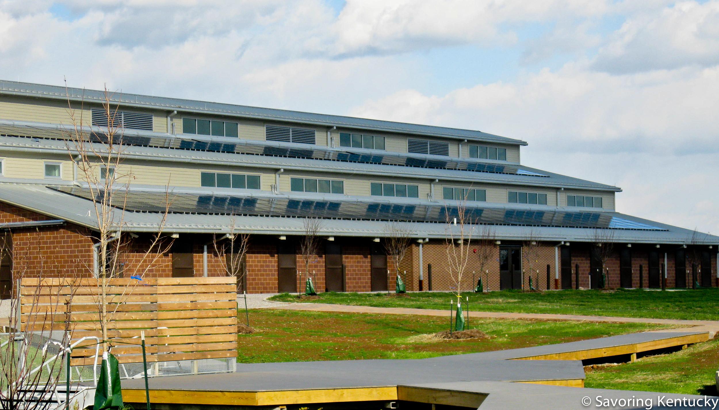 One of several net zero buildings at Locust Trace Agriscience Farm, Lexington, Kentucky