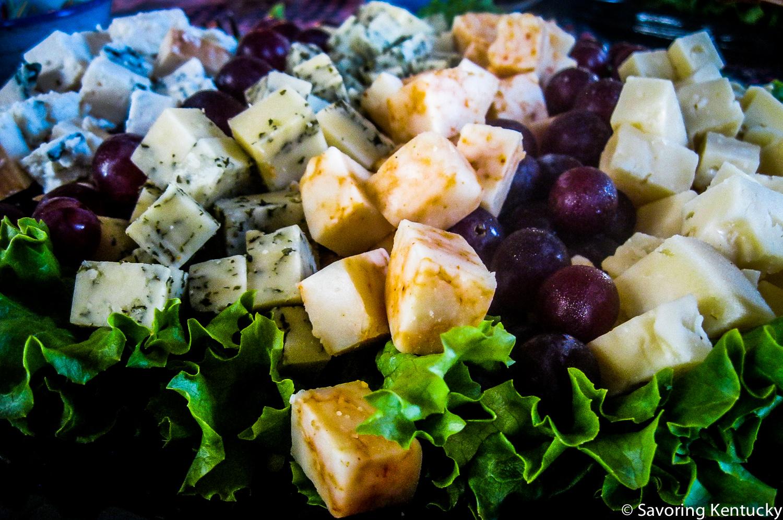 Local Kentucky cheese platter from Good Foods Market & Café