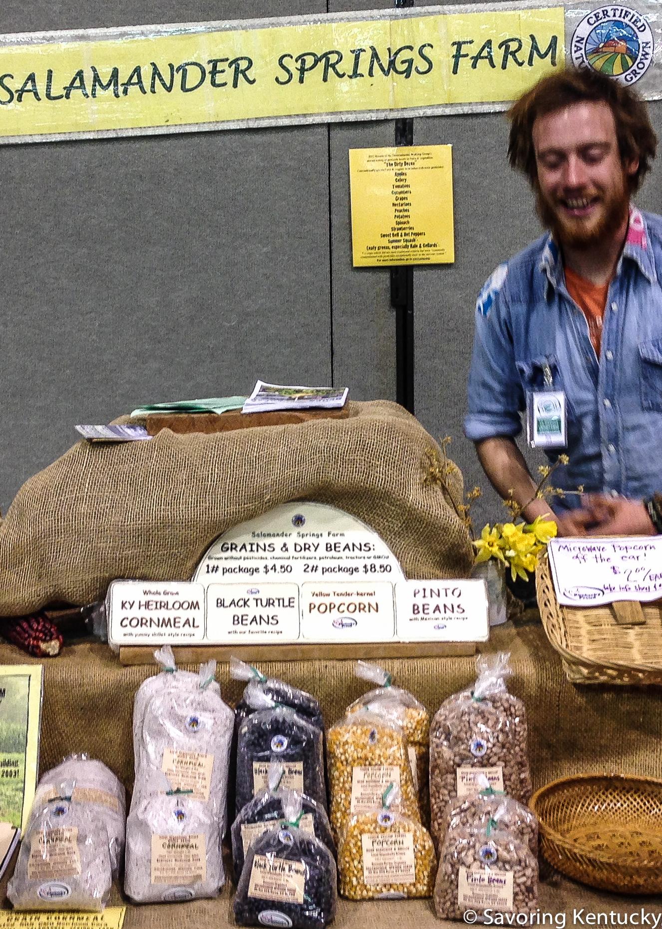 Salamander Springs Farm exhibit at at the 2014 Kentucky Green Living Fair, Somerset, Kentucky