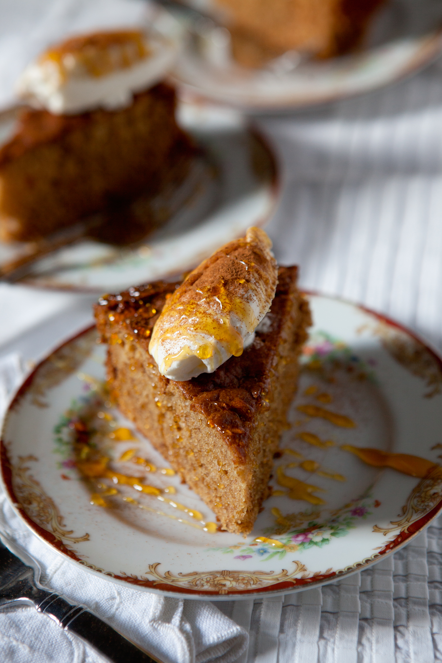 Double Gingerbread with Whipped Bourbon Half-Sour Cream. Photograph by Sarah Jane Sanders