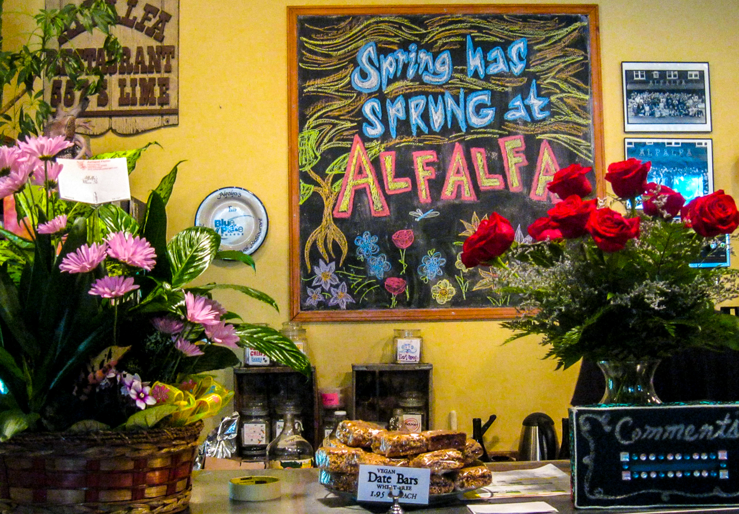 The blackboard message is just as true in the desperately sought, exuberantly welcomed spring of 2015 as it was in 2013, when Alfalfa celebrated its 40th anniversary.