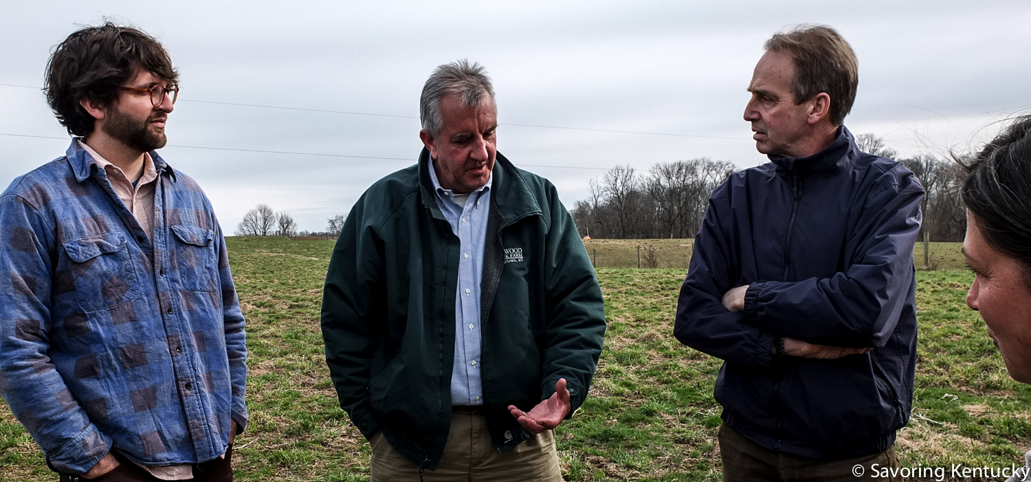 From left, Woodland Farm manager and Kelley Green biofuel founder, Mac Stone, David Wilson