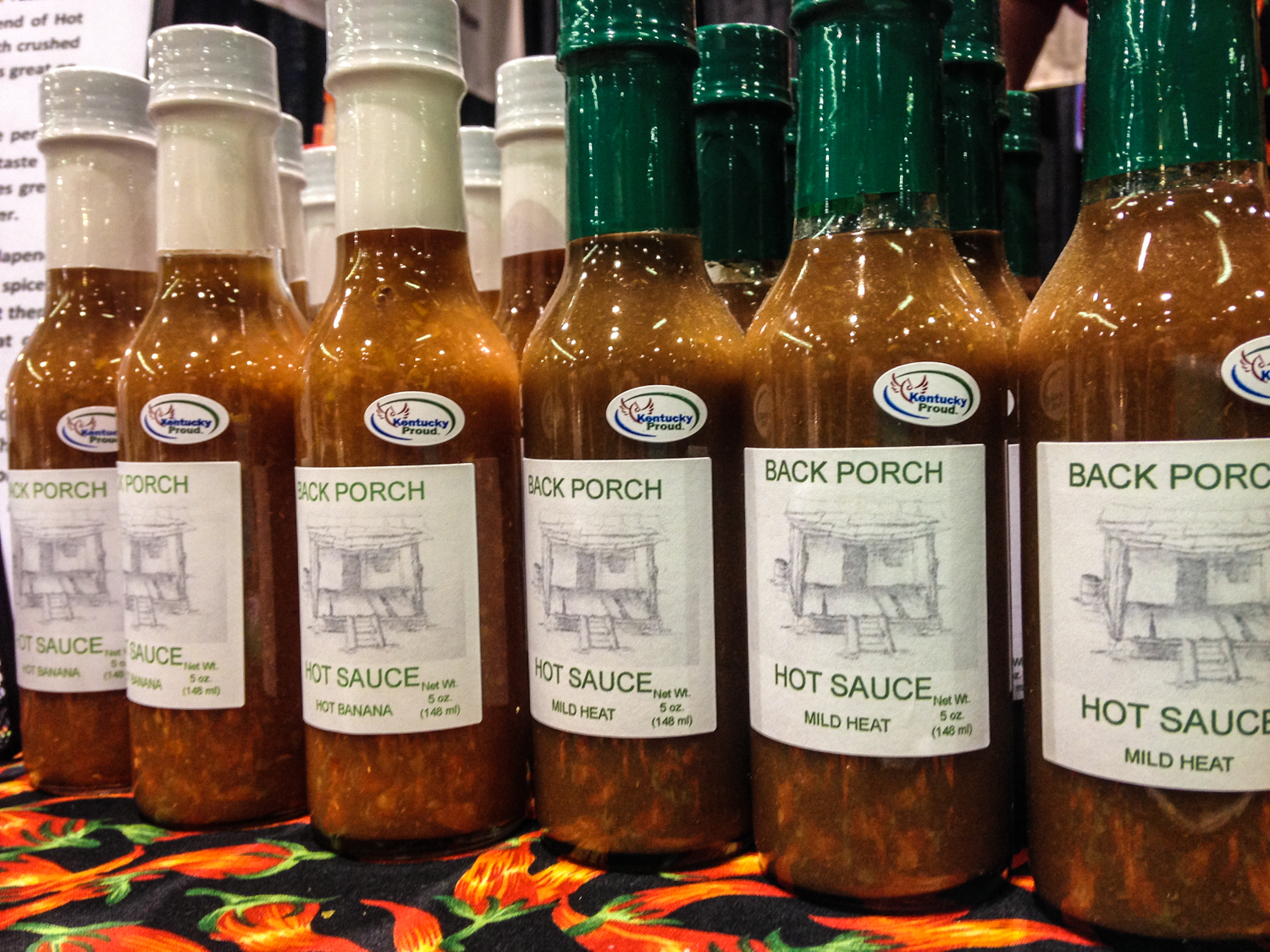 Back Porch Hot Sauce is manufactured and bottled in Winchester, Kentucky.
