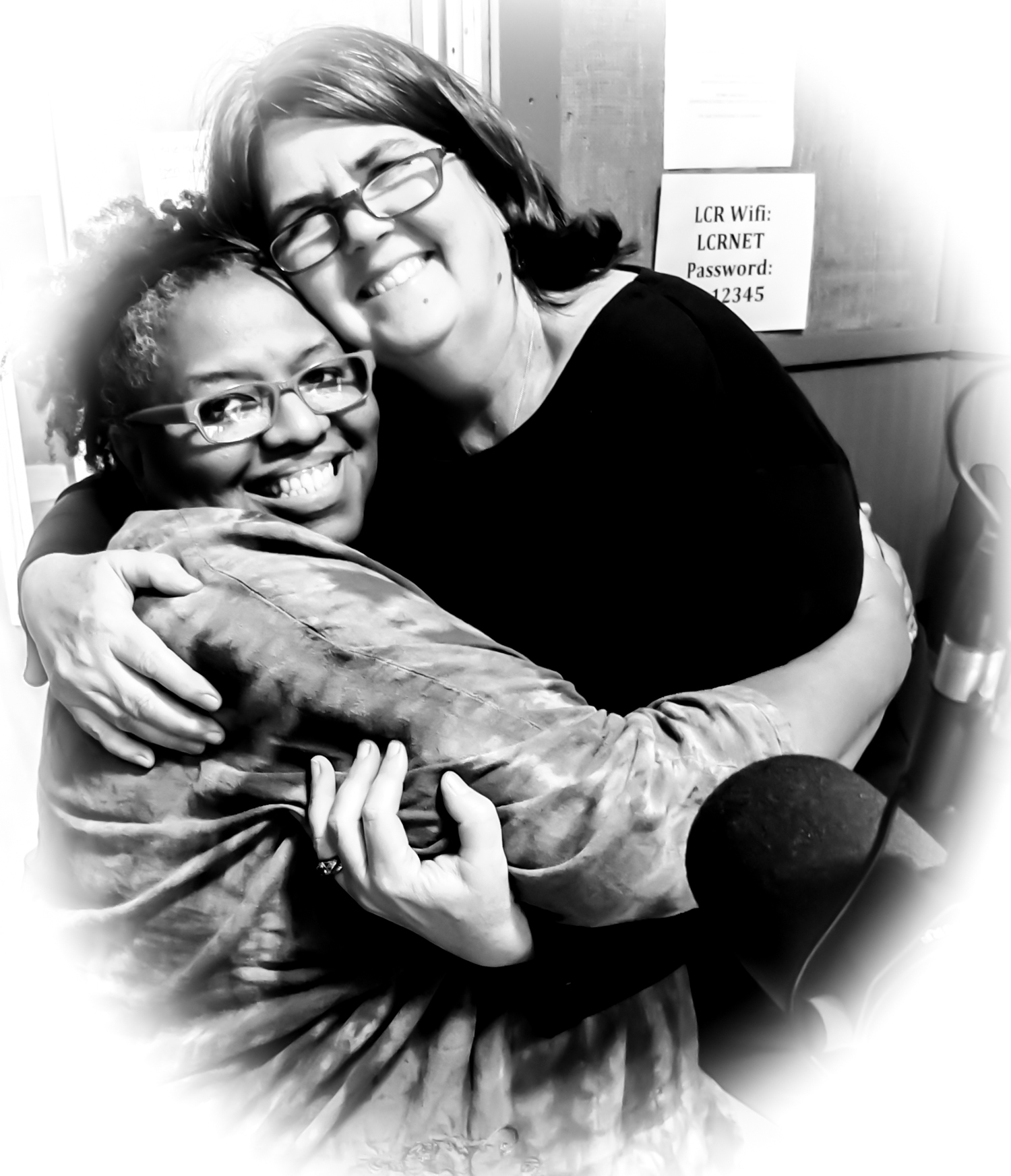 From left, Crystal Wilkinson, Ouita Michel.
