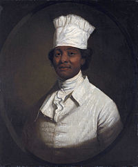 Possibly George Washington's enslaved chef Hercules, possibly painted by Gilbert Stuart (from  Wikipedia )