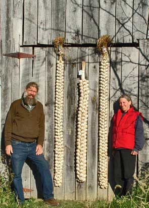 "Leo and Jean Pitches Keene photographed themselves and their garlic braids before shipping the braids to New York City for an appearance on the ""Today"" show with guest chef Jamie Oliver in 2006."