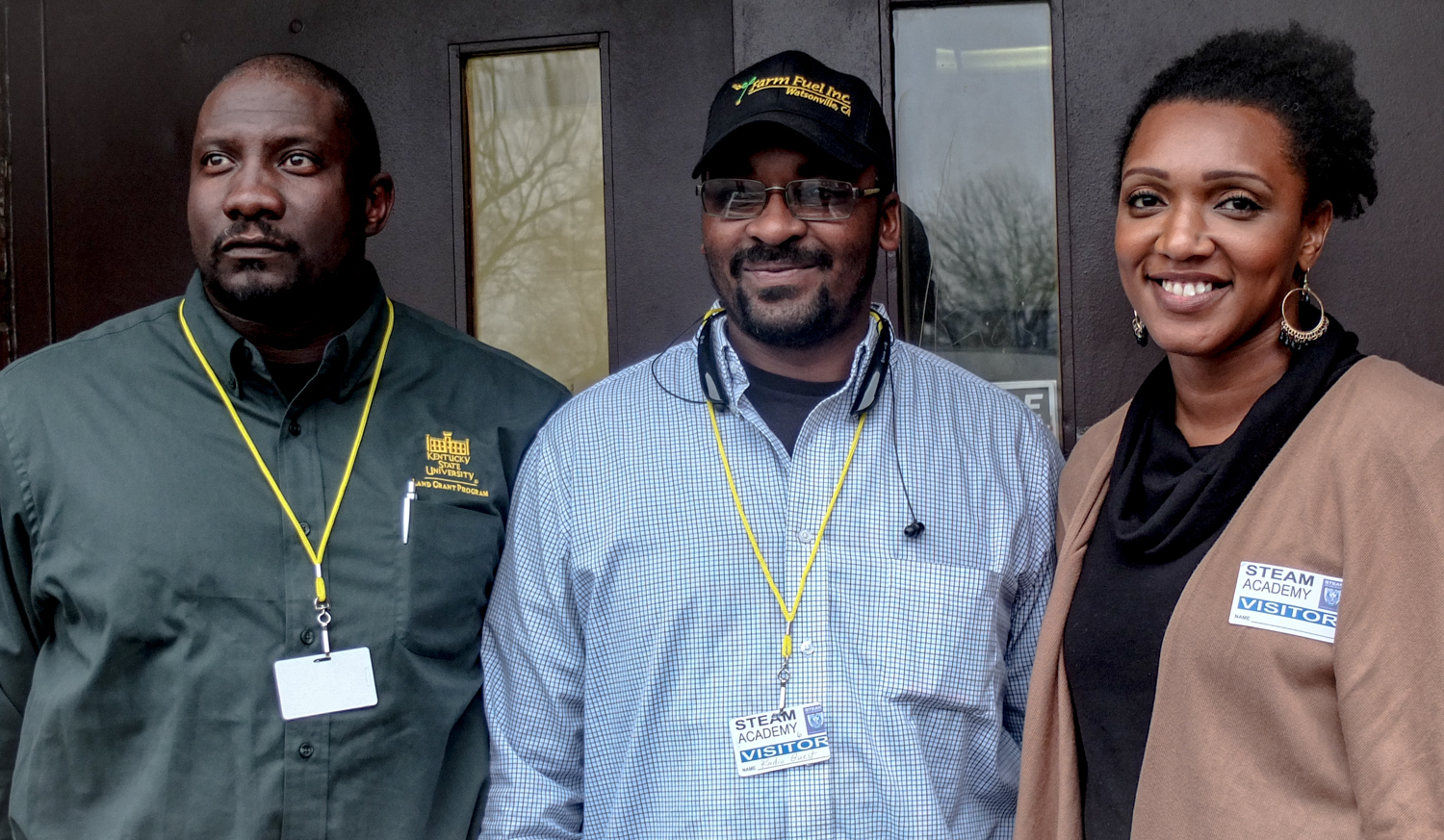 From left: Teheran Jewell, André Barbour, Shanika Chappell
