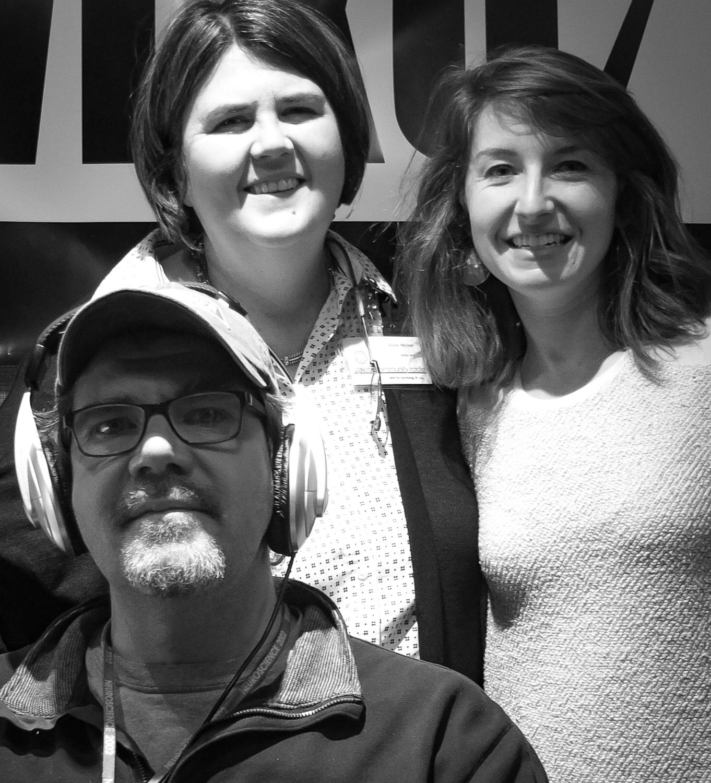 From left: Chris Michel, Ouita Michel and Carolyn Gahn in the WLXU studio at  Lexington Community Radio .