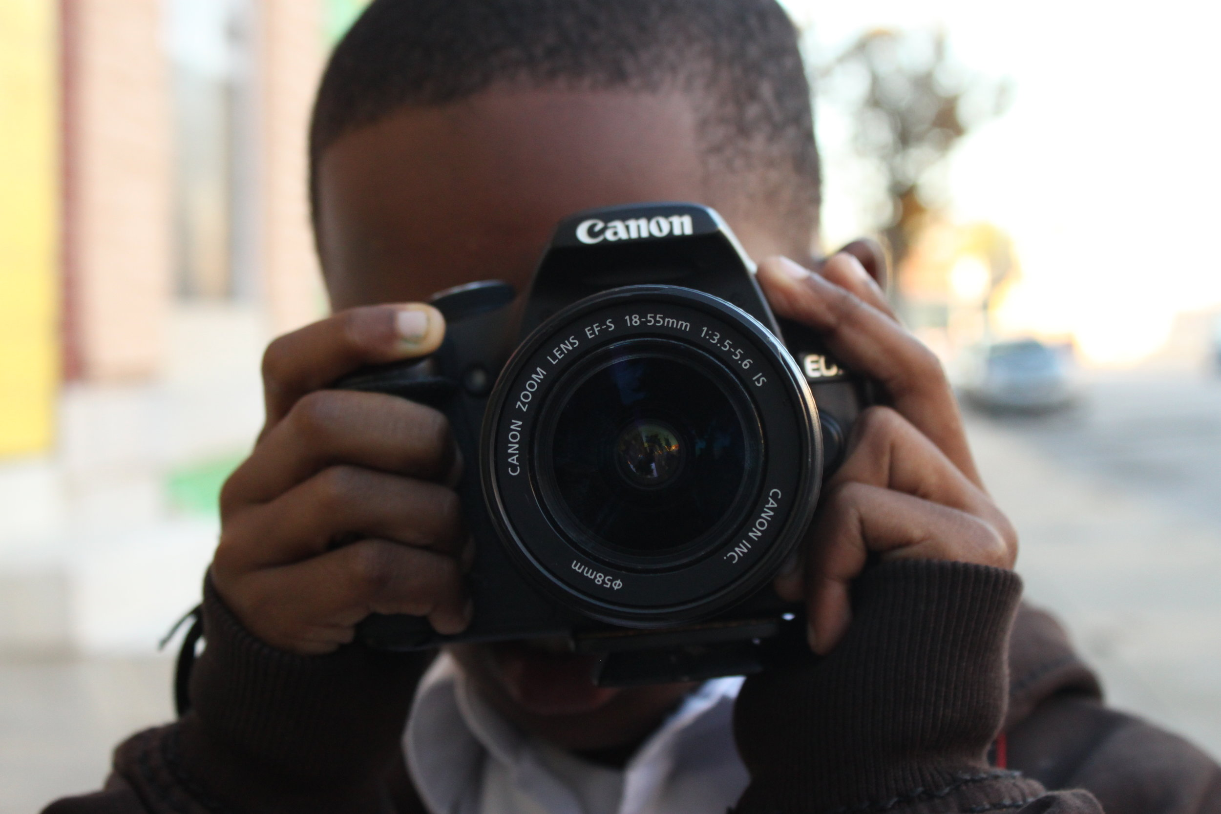 Sadeeq Biggers on a photo excursion during the Campaign for Change project, Fall 2016