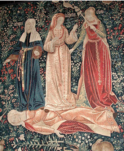 The Triumph of Death , or  The Three Fates , Flemish tapestry, ca. 1510-1520