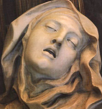 Giovanni Lorenzo Bernini,  The ecstasy of Santa Teresa of Avila , (detail)
