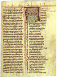 Manuscript of Hadewijch's Frist Poem, Ghent, UB, 941, f. 49r.