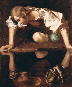 Michelangelo Carravagio,  Narcissus , 1598