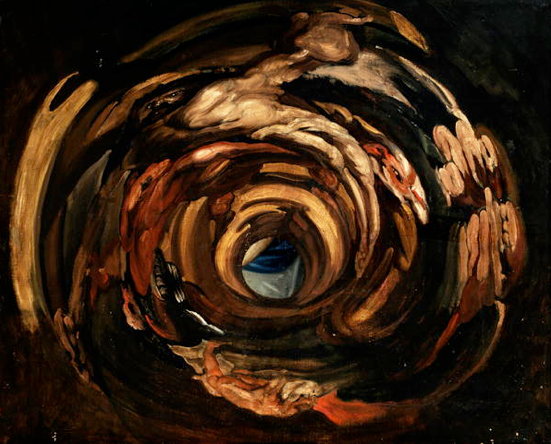 Anonymous,  Anamorphosis after Rubens,  Descent from the Cross  (17th century), Bird's Eye