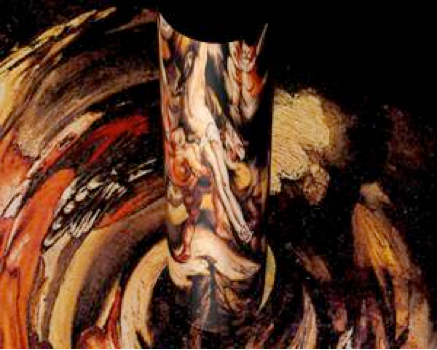 Anonymous,  Anamorphosis after Rubens,  Descent from the Cross  (17th century), Profile