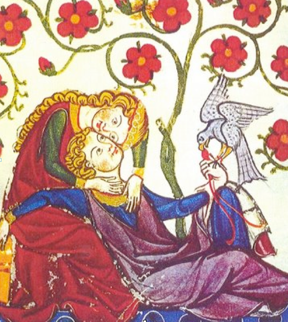 Miniature from the  Codex Menasse , detail, 13th century