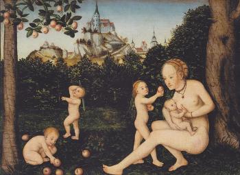 Lucas Cranach the Younger,  Caritas , ca 1550