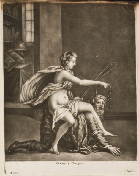 Anonymous ( after Henri Gascar),  Socrates and Xantippe , ca 1685