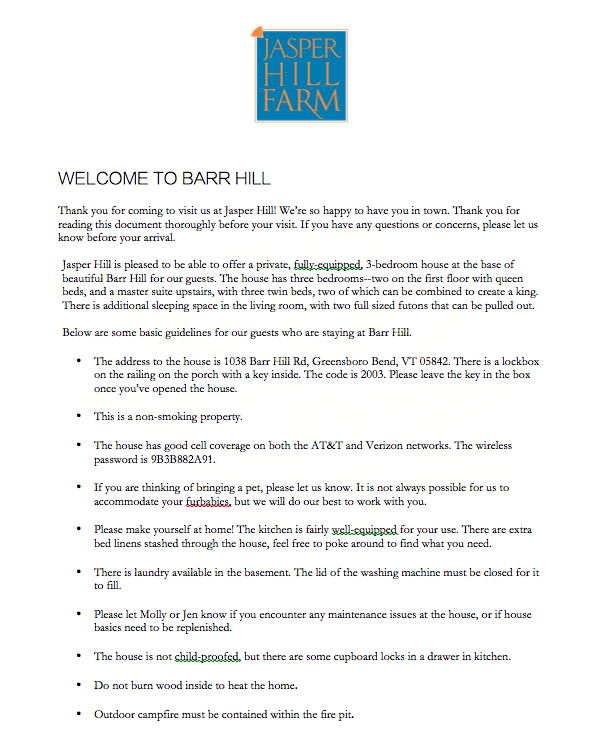 Welcome to Barr Hill