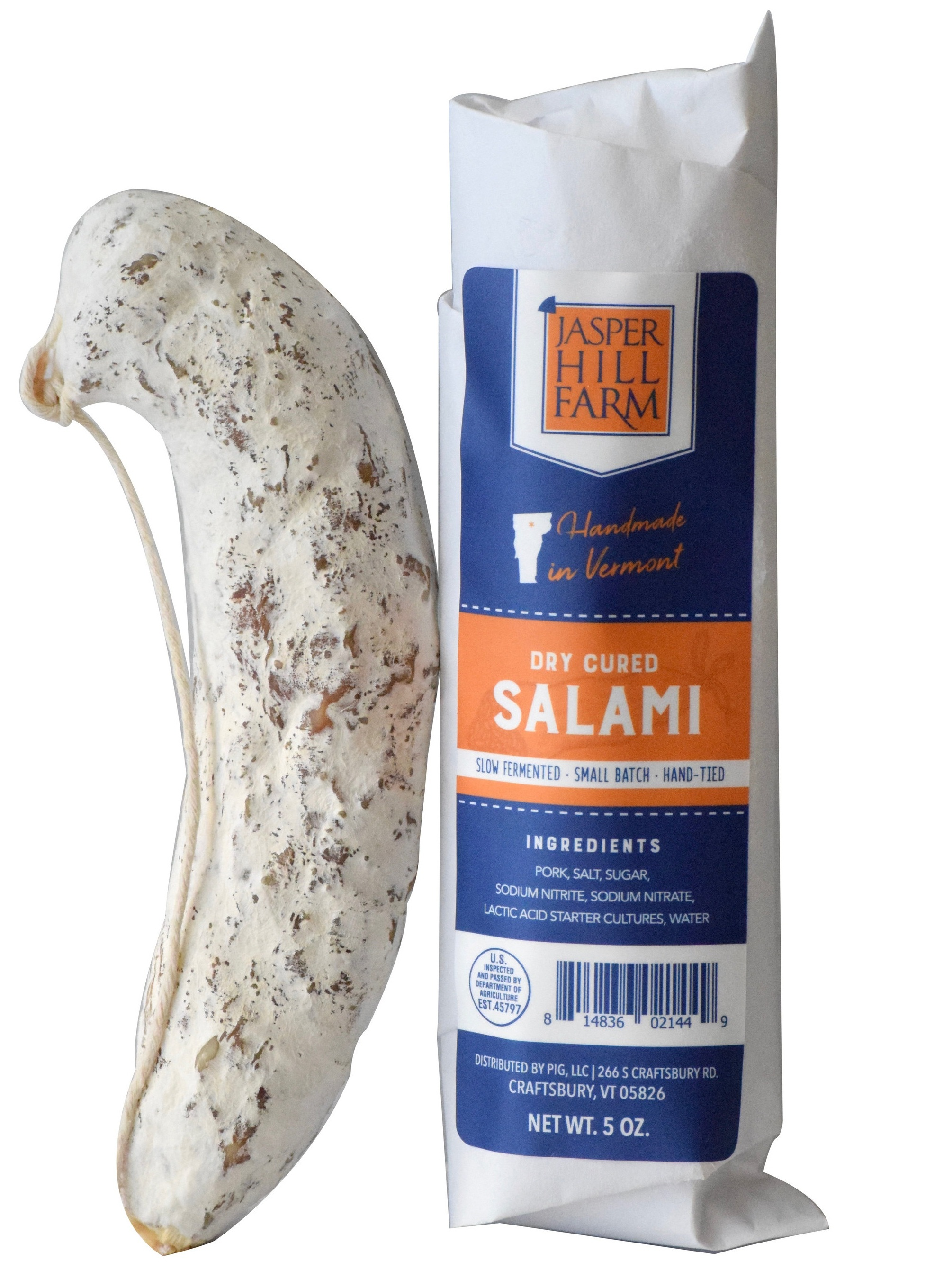 Dry Cured Plain Salami - 4.5oz
