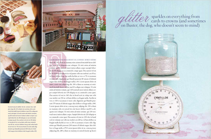 Feature spread for Country Living.