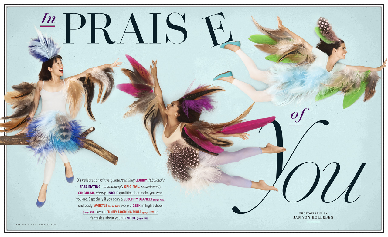 Opening spread for feature about personal quirks.
