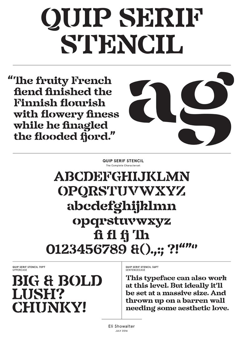 Quip Serif Stencil