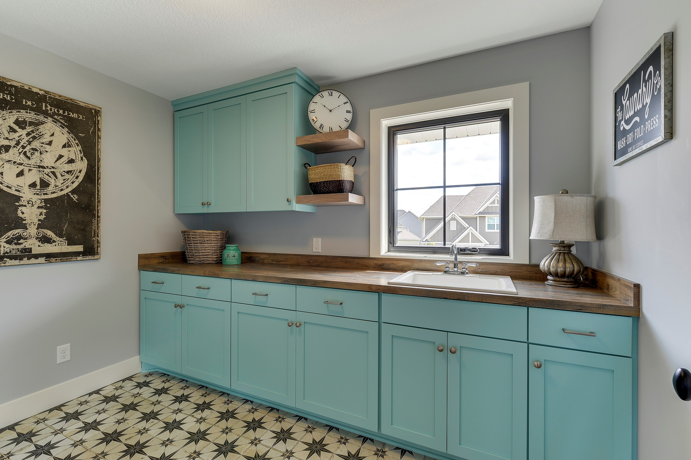 You don't always have to paint the walls to add color to a room...Instead paint the cabinets!